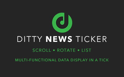 How to Change Font Colour in Ditty News Ticker?