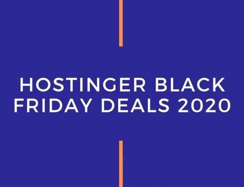 Hostinger Black Friday Deals 2020 | Grab 90% Discount – $0.9 Only