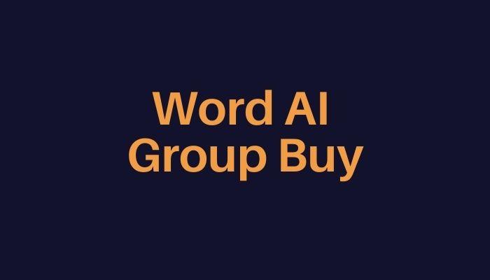Word AI Group Buy
